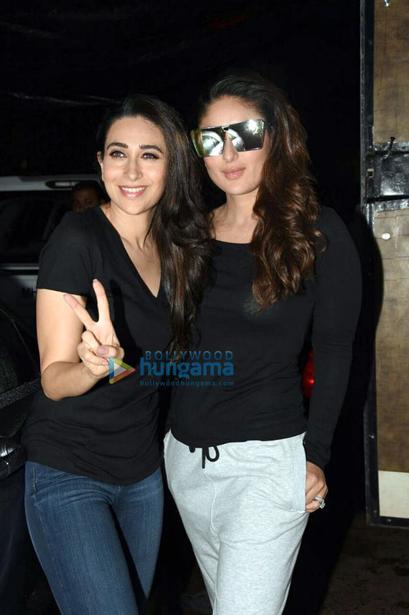 Kareena Kapoor Khan, Karisma Kapoor and their mother Babita snapped post an ad shoot