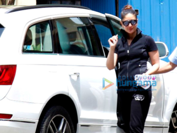 Kareena Kapoor Khan and Amrita Arora snapped outside their gym
