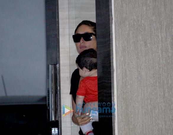 Kareena Kapoor Khan snapped with Taimur at Babita Kapoor's house