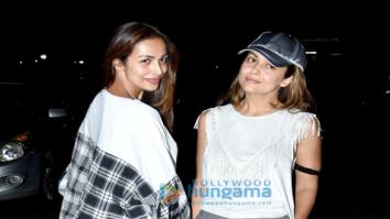 Malaika Arora Khan, Amrita Arora and Shakeel snapped post Arbaaz Khan's birthday celebration
