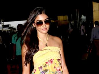 Pooja Hegde and Yami Gautam snapped at the airport