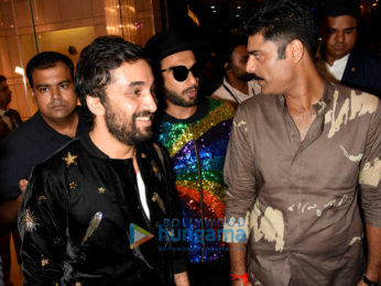 Ranveer Singh attends Manish Arora's fashion preview at the Lakme Fashion Week 2017