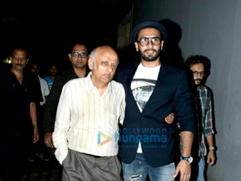 Ranveer Singh snapped post meeeting with the Bhatts at Vishesh Films office