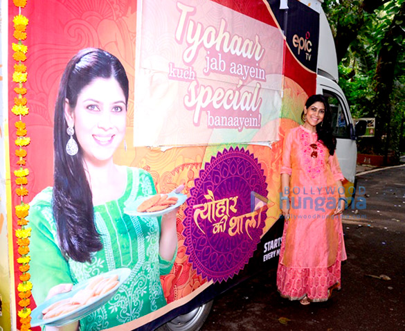 Sakshi Tanwar snapped promoting her upcoming show 'Tyohaar Ki Thali'