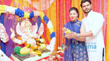 Sambhavna Seth & her husband Avinash Dwivedi celebrate Ganesh Chaturthi