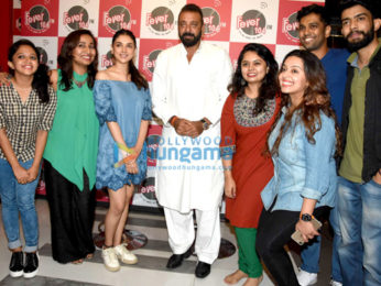 Sanjay Dutt and Aditi Rao Hydari at Fever 104 FM for Bhoomi promotions