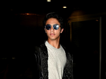 Shah Rukh Khan snapped dropping his son Aryan Khan at the airport as he departs for USA