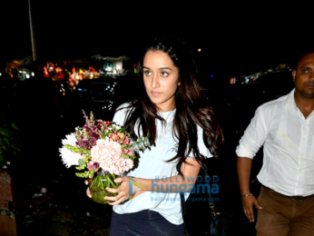 Shraddha Kapoor and Suniel Shetty's families snapped post dinner at Bastian
