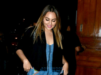 Sonakshi Sinha snapped post dinner with friends in Bandra