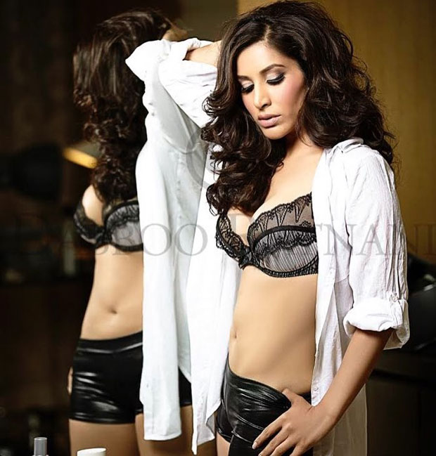 Sophie Choudry sizzles in black lingerie for this photoshoot