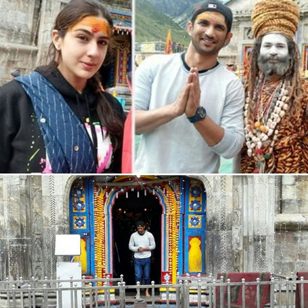 Sushant Singh Rajput and Sara Ali Khan seek blessings in Kedarnath