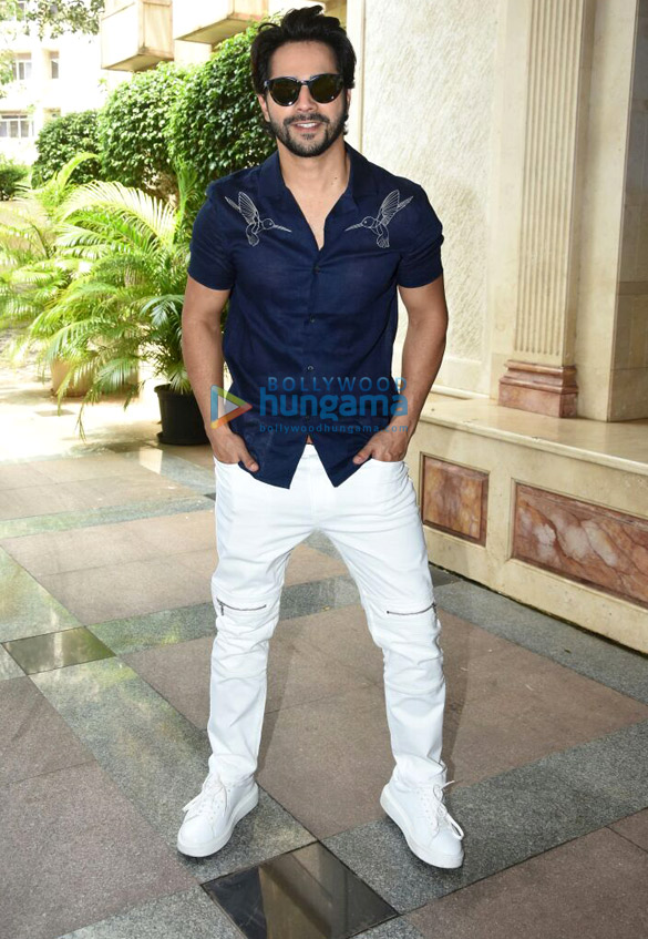 Varun Dhawan, Jacqueline Fernandez and Taapsee Pannu snapped at 'Judwaa 2' promotions