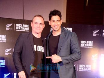 Sidharth Malhotra addresses the media in Pune as the brand ambassador of Tourism New Zealand