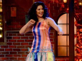 Sunny Leone on the sets of Drama Company