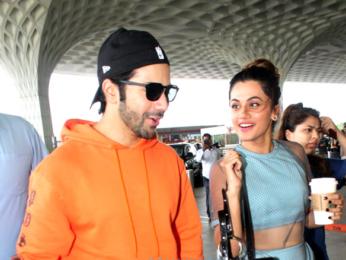 Shraddha Kapoor, Varun Dhawan and Taapsee Pannu snapped at the airport