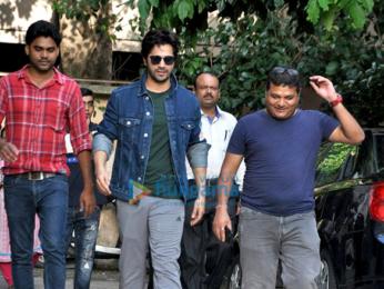 Varun Dhawan snapped at Shoojit Sircar's office