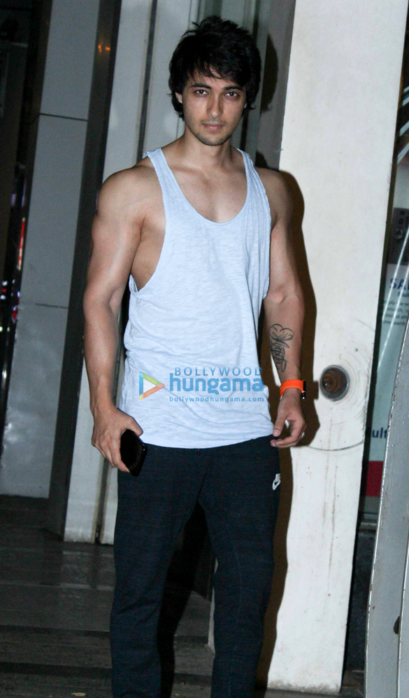 Aayush Sharma spotted at a Khar gym