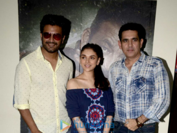 Aditi Rao Hydari and Sharad Kelkar snapped promoting Bhoomi