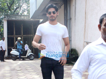 Ahaan Shetty snapped at a clinic