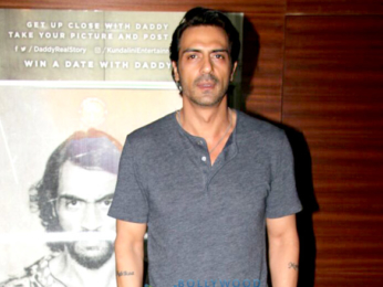 Arjun Rampal snapped promoting his film Daddy