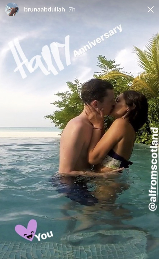 Bruna Abdullah spotted kissing her husband passionately in Mauritius