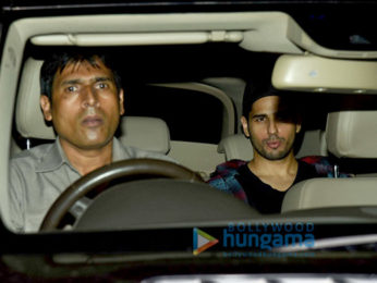 Sidharth malhotra and Jacqueline Fernandez snapped post dinner at Pali Bhavan