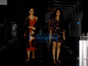 Fatima Sana Shaikh and Sanya Malhotra snapped post dinner in Bandra