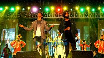 Gippy Grewal & Farhan Akhtar snapped promoting Lucknow Central in Chandigarh