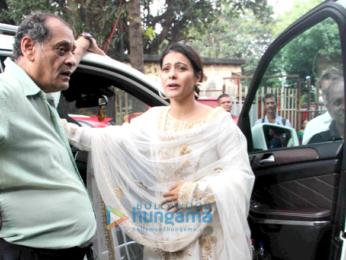 Kajol and family snapped at Durga pandal in Mumbai