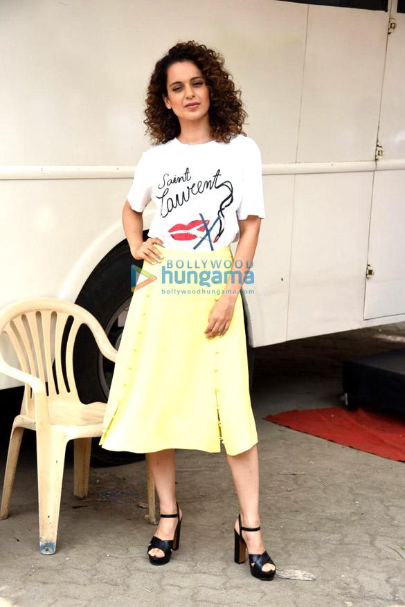 Kangana Rananut snapped promoting her film Simran