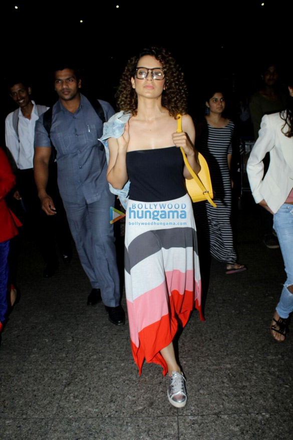 Kangana Ranaut and Jacqueline Fernandez snapped at the airport