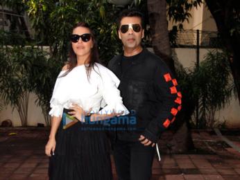 Karan Johar snapped shooting for Neha Dhupia's show #NoFilterNeha – Season 2