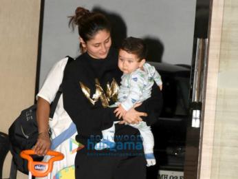 Kareena Kapoor Khan snapped with Taimur post birthday celebrations at Babita Kapoor's house in Bandra
