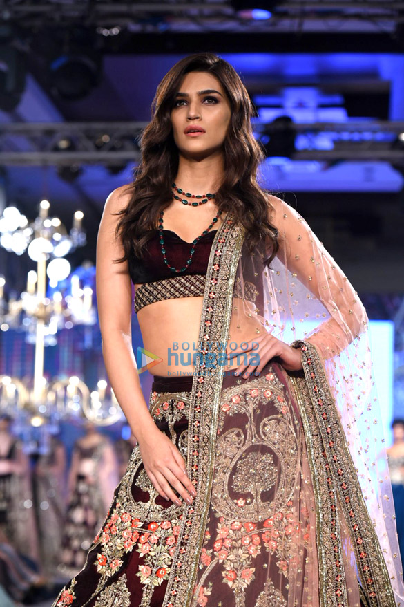 Kriti Sanon walks the ramp at Bombay Times Fashion Week