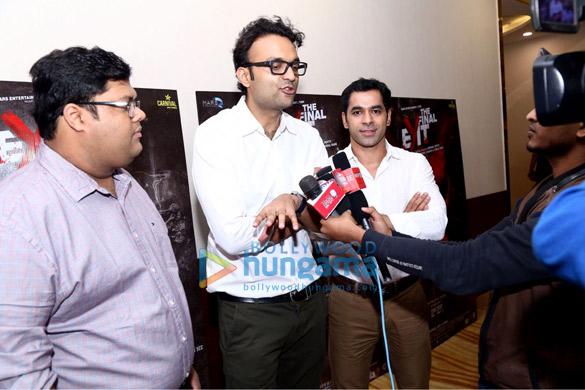 Kunaal Roy Kapur, Mrunal Jhaveri, Vishal Rana and others grace the press meet of the film The Final Exit