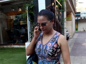 Lara Dutta snapped in Bandra
