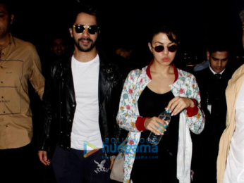 Taapsee Pannu, Varun Dhawan, Jacqueline Fernandez, Sunny Leone & Daniel Weber snapped at the airport