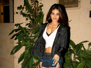Nidhhi Agerwal spotted at a clinic in Bandra