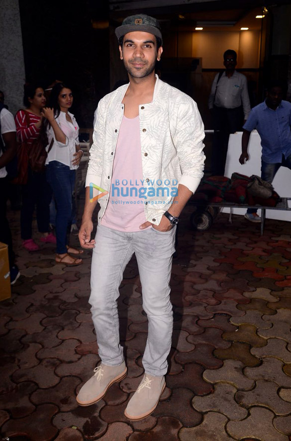 Rajkummar Rao snapped at Lower Parel promoting his film Newton