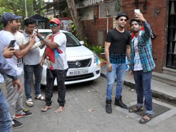 Rajkummar Rao snapped post a meeting in Juhu
