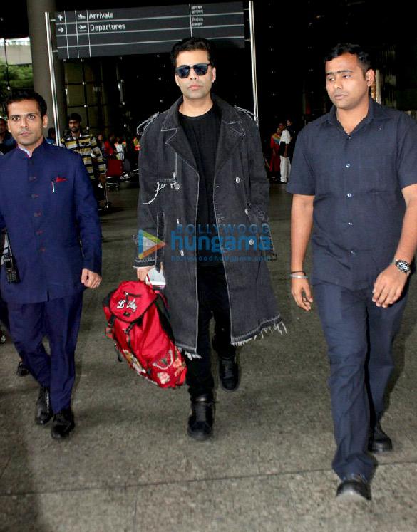 Ranbir Kapoor and Karan Johar snapped at the airport