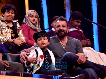 Sanjay Dutt meets the contestants of 'Sa Re Ga Ma Pa L'il Champs'