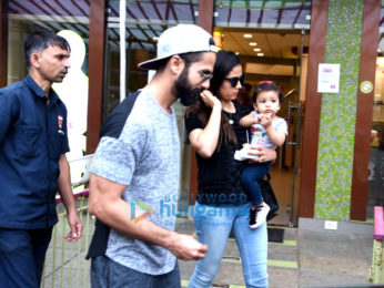 Shahid Kapoor and family snapped on Mira Kapoor's birthday at an ice cream store