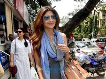 Shilpa Shetty snapped shopping in Khar