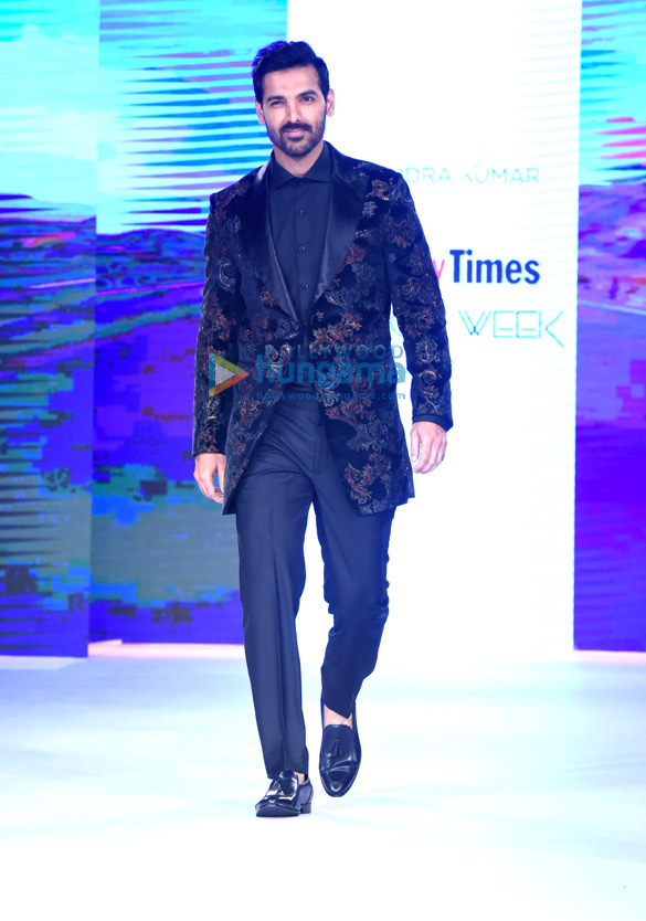 Sunny Leone and John Abraham walk the ramp at Bombay Times Fashion Week