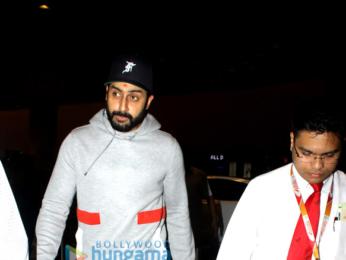 Varun Dhawan, Abhishek Bachchan and Taapsee Pannu snapped at the airport