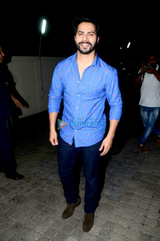 Varun Dhawan, Alia Bhatt, Taapsee Pannu, Remo D'Souza and Kiara Advani grace the screening of Judwaa 2 at PVR Juhu