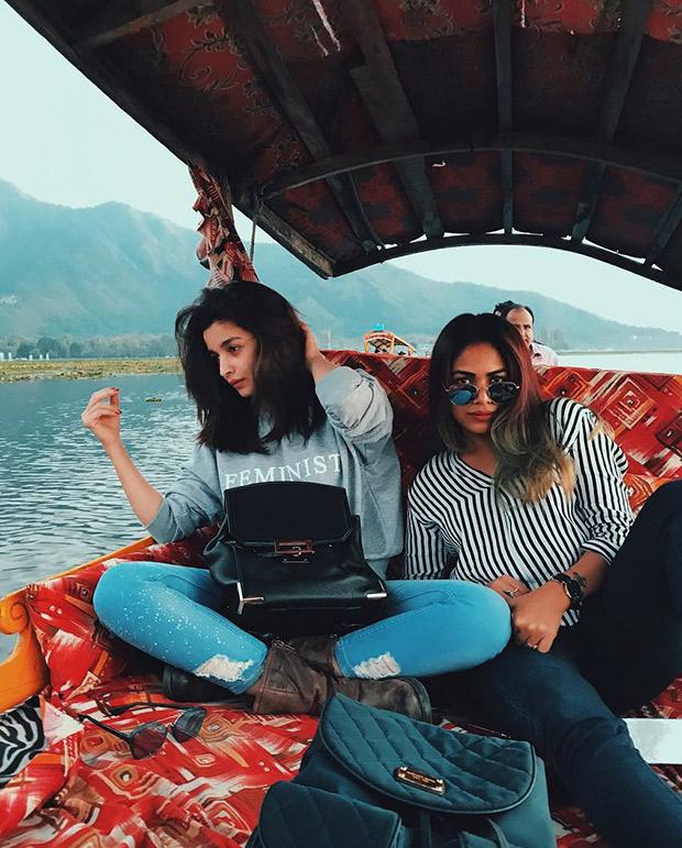 WOW! Alia Bhatt spotted chilling with Meghna Gulzar, Puneet B Saini on Raazi sets in Kashmir