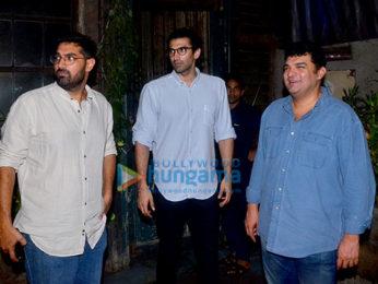 Siddharth Roy Kapur, Aditya Roy Kapur, Kunaal Roy Kapur at Pali Village cafe