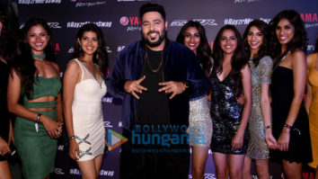 Badshah and Miss Diva contestants at Yamaha music video launch